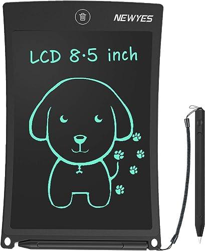 NEWYES NYWT850 Tablette d'Ecriture LCD, 8.5 Pouces de Longueur - Différentes Couleurs(Noir)