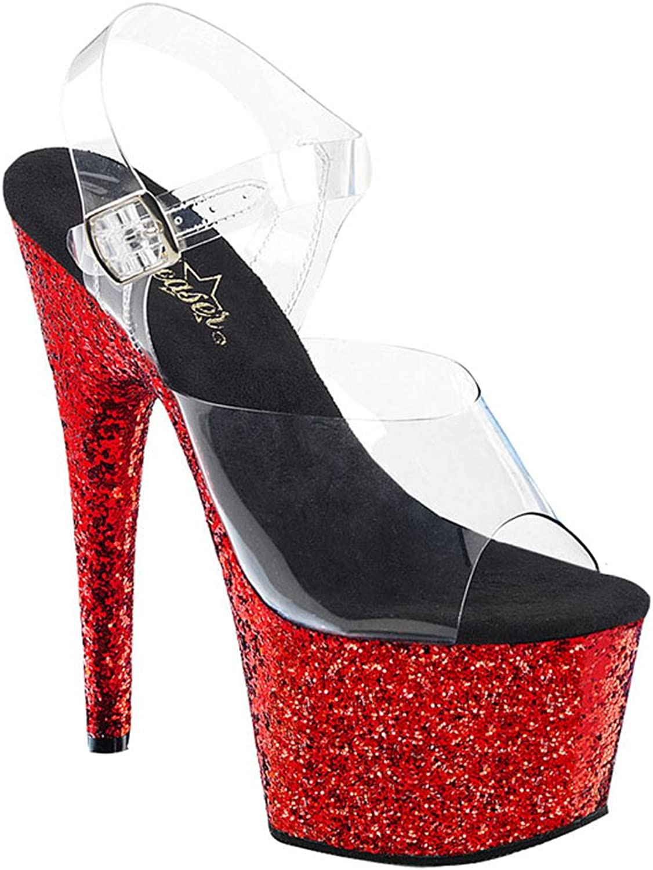 Pleaser Womens ADORE-708HQSQ C BLG-RG Sandals