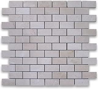 Crema Marfil Spanish Marble 1x2 Medium Brick Mosaic Tile Polished