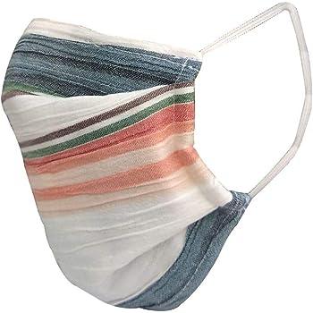 nestroots Cotton Face Mask Pack of 1Multicolour stripeWashable Reusable Face Masks |Soft Earloop/Mouth Nose cover Face Masks Men Women Kids Unisex |cover Face Masks (Multicolour)