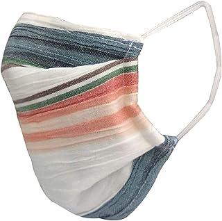 nestroots Cotton Face Mask Pack of 1Multicolour stripeWashable Reusable Face Masks  Soft Earloop/Mouth Nose cover Face Masks Men Women Kids Unisex  cover Face Masks (Multicolour)
