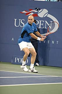 Posterazzi Poster Print Andre Agassi Inside for U.S. Open Tennis Tournament Arthur Ashe Stadium Flushing Ny Wednesday September 07 2005. Photo by Rob RichEverett Collection Celebrity (16 x 20)