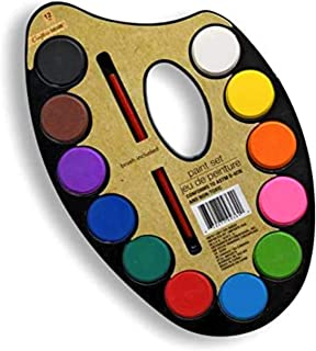 12 Colors Watercolor Paint Palette Set - Artist Paint Palette with Paint Brush, Educational School Art Supplies for Kids, ...