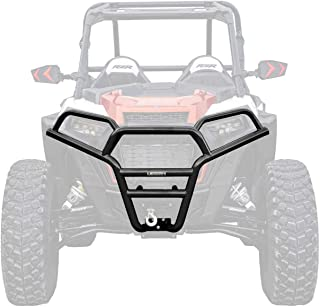 SuperATV Heavy Duty Front Brush Guard Bumper for Polaris RZR XP 1000 / XP 4 1000 (2019+) - Wrinkle Black