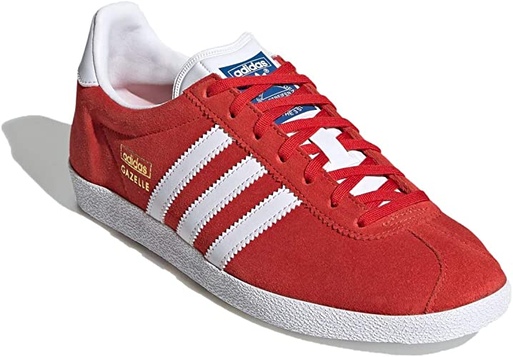 Amazon.co.jp: Adidas Gazelle Gazelle OG FV7778 Red/Footwear White ...
