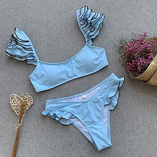 GUOZI Bikini badpak merk Ribine backless Ruffles badpak voor dames
