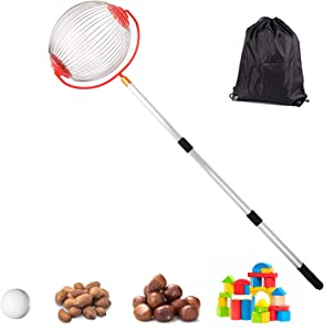 Medium Nut Gatherer Rolling Nut Harvester Ball Picker Adjustable Lightweight Outdoor Manual Tools Picker Collector Walnuts Pecans Golf Nerf Darts and Ball 1'' to 3'' in Size (7.48 9in)