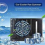 Voiture Climatiseur Ventilateur, 12V Portable Refroidisseur d'air