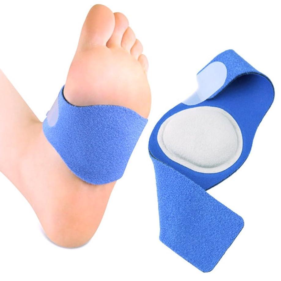 二層十二ハンカチTAKUMED アーチサポーター 扁平足 凹足 足底筋膜炎 サポーター 土踏まず 立ち仕事 男女兼用 サイズ調整可能 左右セット (S-Mサイズ)