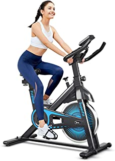Exercise Cycling Spin Bike, Indoor Stationary Bicycle Flywheel Fitness Cardio Machine, 120KG Capacity, 6KG Flywheel, Adjus...