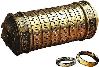 QZBAOSHU Retro Da Vinci Bloqueo de código San Valentín Día Cumpleaños Regalo con señor de los Anillos Cajas y Pantalón Embalaje (Bronce)