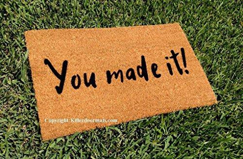You Made It! Custom Handpainted Welcome Doormat by Killer Doormats, Size Small - Welcome Mat - Doormat