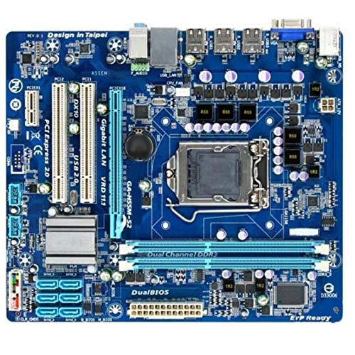 ALBBMY Ajuste para GIGABYTE GA-H55M-S2 Placa base de escritorio usada H55 Socket para LGA 1156 I3 I5 I7 DDR3 8G Micro-ATX placa base H55M-S2 PC Gaming