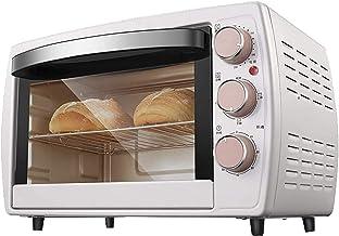 Horno tostador,horno eléctrico horno de 20 l con ajuste de temperatura de 70-230℃ y temporizador de 0-60 minutos,horno con puerta de vidrio de doble capa de 1200 vatios,blanco,pequeños electrodoméstic