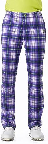 IJP Design Pantalon Tech de à Motif Tartan, Homme, Tech-Hose mit Tartanmuster