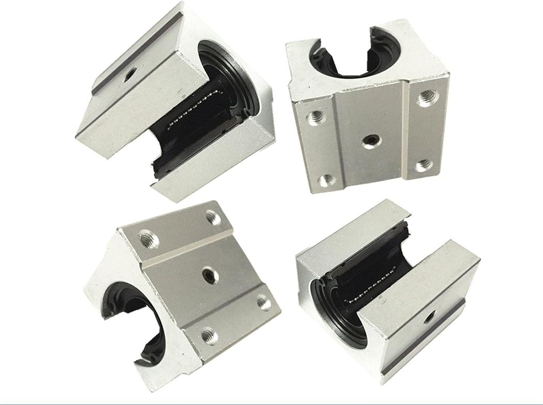 LGFCOK 4 pcs SBR20UU SBR20 UU 20mm Max 69% OFF Linear Block Aluminum Save money Motion