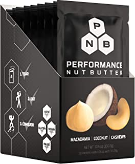 Performance Nut Butter Macadamia, Coconut & Cashew Keto Friendly Whole 30 Approved Food | Healthy Fat Bomb Packets - Paleo...