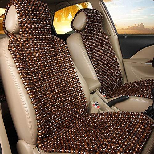 Holzkugel Auflage Holzperlen Auflage fürs Auto Nostalgie Auflage Holz - mit angenehmen Massageeffekt durch die Holzkugeln,45 x 130CM