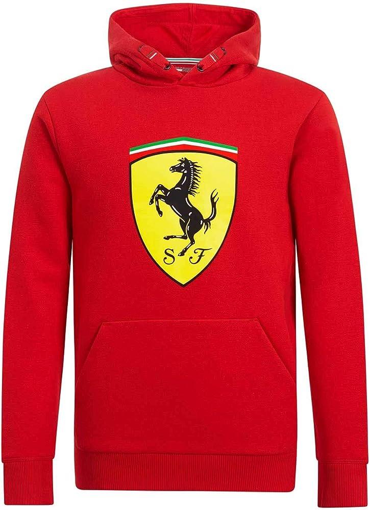 Branded sports merchandising b.v felpa bambino ferrari rossa con cappuccio 130191065-600-092