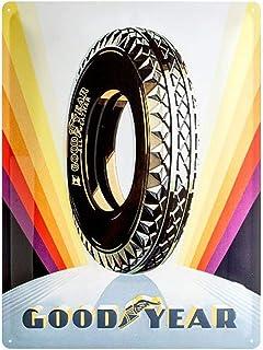 Nostalgic-Art Goodyear – Rainbow Wheel – presentidé för bil- och motorcykelfans, retro plåtskylt, tillverkad av metall, vi...
