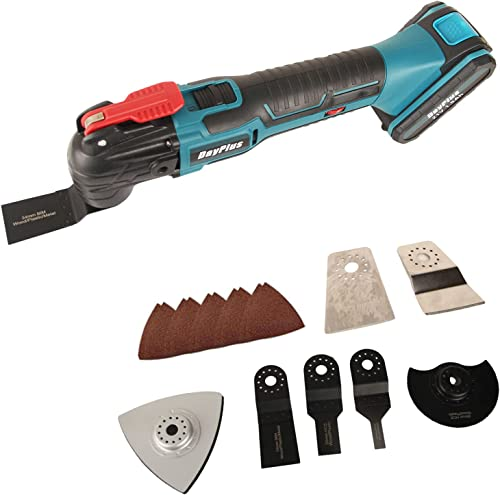 high quality Multi-Purpose discount Oscillating Tool Kit 1.5Ah Li-ion Battery, Cordless Rechargeable Oscillating online sale Multi Tools, 6 Variable Speed 4° Oscillation Angle with 22-Piece Universal Accessory outlet sale