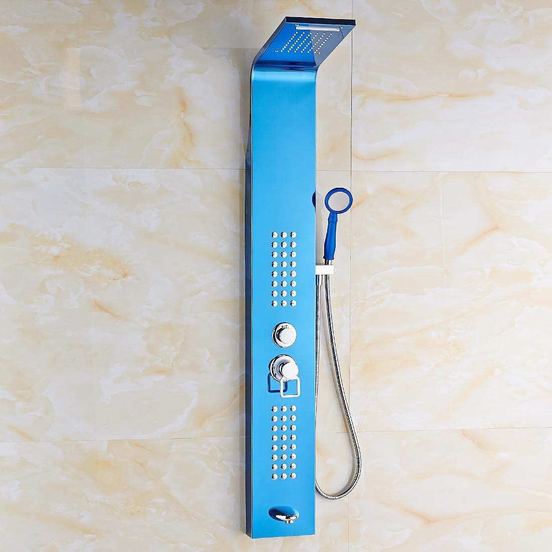 acero inoxidable 304 azul baño mampara de ducha traje nuevo ducha moderna europea - Garantía de 10 años: Amazon.es: Hogar