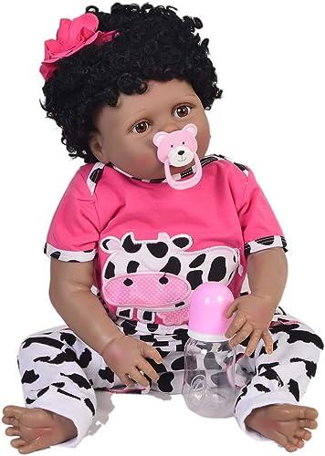 22 Realistische Reborn Babypuppe, niedliche Mode Weißhen Silikon suchen Neugeborenes Babypuppe Beste Geburtstagsgeschenk für Alter 3