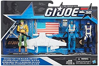 G.I. Joe, 50th Anniversary, Chase for the MASS Device Action Figure Set [Duke, Cobra Commander, and Cobra CLAWS Trooper], 3.75 Inches