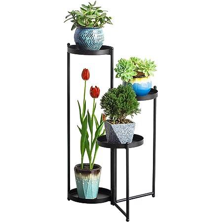 Details about  /Small Metal Flower Pot Holder Succulent Plant Pots Stand Set Modern Garden Decor