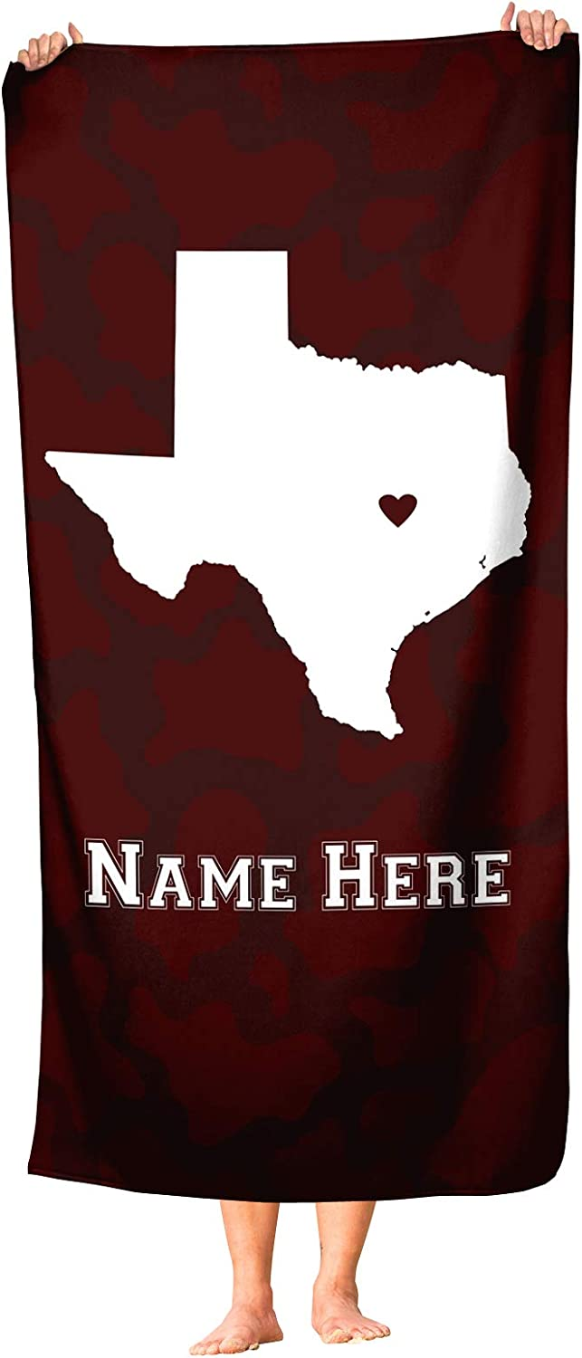 College Station Direct sale of manufacturer Texas - San Francisco Mall State Pride Towel Custom and Beach Bath