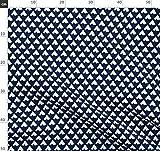 Marineblau, Tipi, Dreiecke, Indigen, Blau Stoffe -
