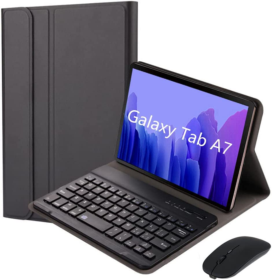 """QYiD Keyboard Case for Galaxy Tab A7 10.4"""" 2020 (SM-T500/SM-T505), Lightweight Cover with Detachable Wireless Keyboard & Bluetooth Mouse for Galaxy Tab A7 10.4"""
