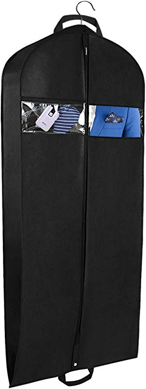 Univivi Garment Bag For Travel And Storage 43 Breathable Suit Bags With Two Zipped Pockets And One Zipped Shoe Bag