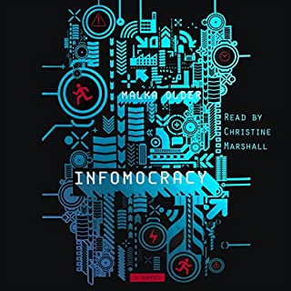 Infomocracy audiobook cover art