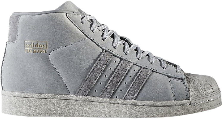 Adidas Originals Mens Pro Model Basketball Hi Top Trainers Grey