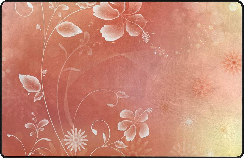 DEZIRO Fashion Floral Print Floor mats for Home Entry Way Area Rug Doormat Carpet shoes Scraper Anti-Slip Washable
