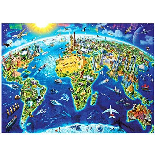 LDM geen volwassen merk puzzel 1000 stuk volwassen puzzel Decompression Puzzle Toys Adult Gift 3D papier puzzel 1000 stuk DIY Landscape Decoration Puzzle-75X50cm