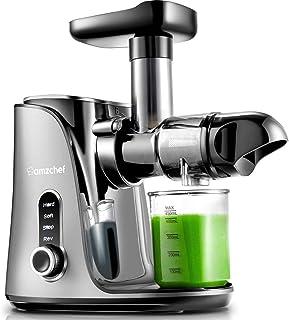 Extracteur de Jus, AMZCHEF Extracteur à Jus de Fruits et Légumes avec 2 vitesses/2 bouteilles d'eau portable (500ml)/écran...