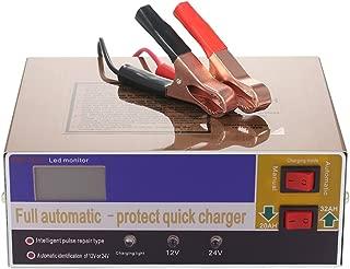 KKmoon XW-20S バッテリー充電器 12V/24V 充電器パルス バイク 自動車バッテリー充電器 リチウムバッテリ 鉛蓄電池充電器
