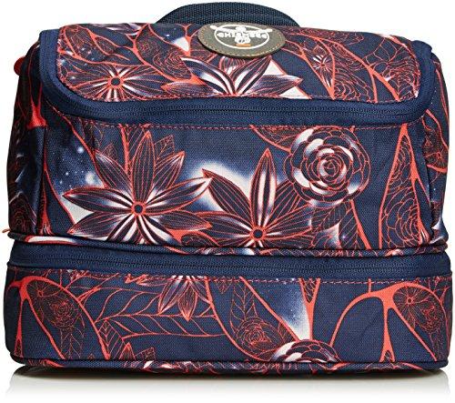 Chiemsee Kulturtasche Kulturtasche Washbag, mit Tragegurt zum Aufhängen, trendige Kosmetiktasche mit separatem Bodenfach, Flower Hibisku, 27.5 x 17.5 x 13.5 cm, 5070010