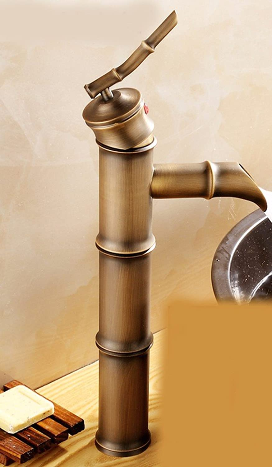 Hlluya Professional Sink Mixer Tap Kitchen Faucet Hot and cold, full copper single handle single hole sink tap the C