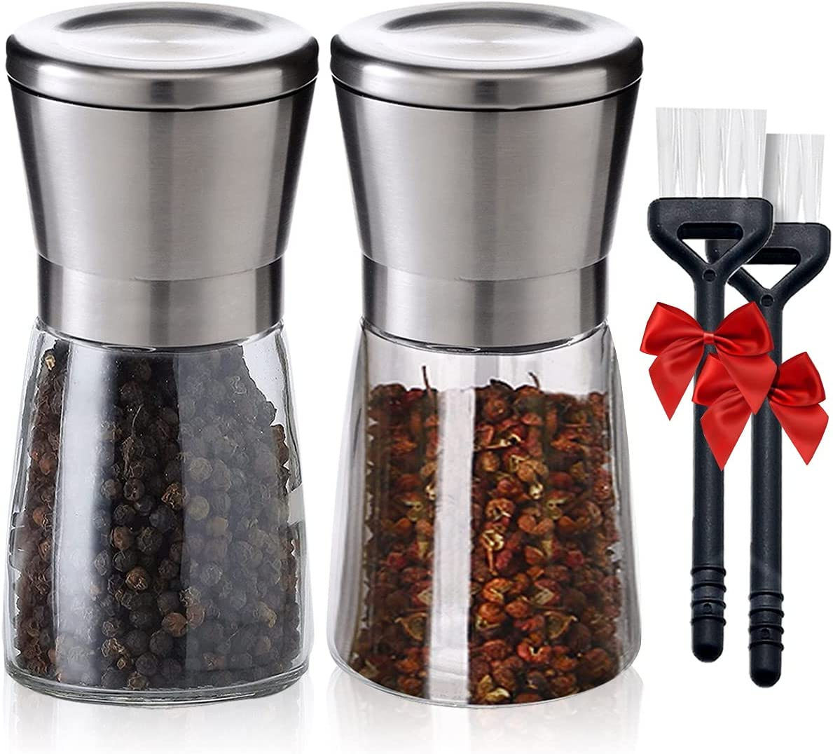 Professional Topics on TV Salt and Pepper Grinder Set Stai 304 of Brushed 2 - Great interest