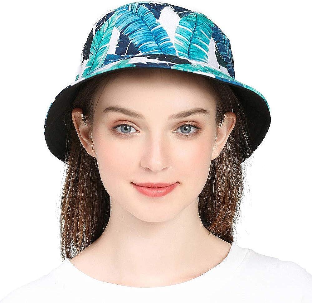 SYcore Unisex Bucket Hat Reversible Fisherman Hat Packable Casual Travel Beach Sun Hats for Men Women Many Patterns