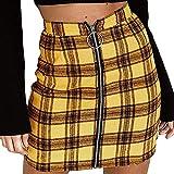 Faldas para Mujer Falda De Tela Clásico A Escocesa Cuadros Roja A Cuadros Escoceses De Chicas Faldas Uniformes De Mujer Largas Plisadas Evasees Corta Desigual Lápiz Impreso De Algodón Plisado del