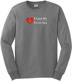 I Love My Rescue Dog Long Sleeve T-Shirt
