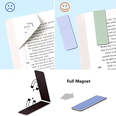 12 Pack Magnetic Bookmark, Book Marker Clip for Teachers, Students, Book Lovers, Printing on 2 Side