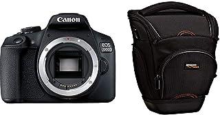 Canon EOS 2000D BK Body EU26 Cuerpo de la cámara SLR 241 MP CMOS 6000 x 4000 Pixeles- Cámara Digital (241 MP 6000 x 4000 Pixeles CMOS Full HD) + AmazonBasics - Funda para cámara de fotos réflex