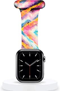 Veezoom Compatible with Apple Watch Band 38mm/40mm, 42/44mm, Silicone Pin Fob for Nurses Midwives Doctors Healthcare Param...