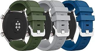 MARGOUN Strap 3 Pack for Huawei GT/Huawei GT 2 (46mm) Watch Band/Huawei Watch GT2 Pro Strap/Samsung Galaxy Watch 46mm / Ga...