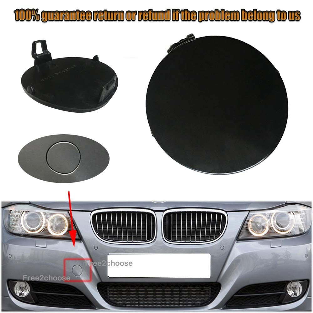 BMW 3-series E90 E91 2008-2011 FRONT bumper hook cover cap tow trim towing eye